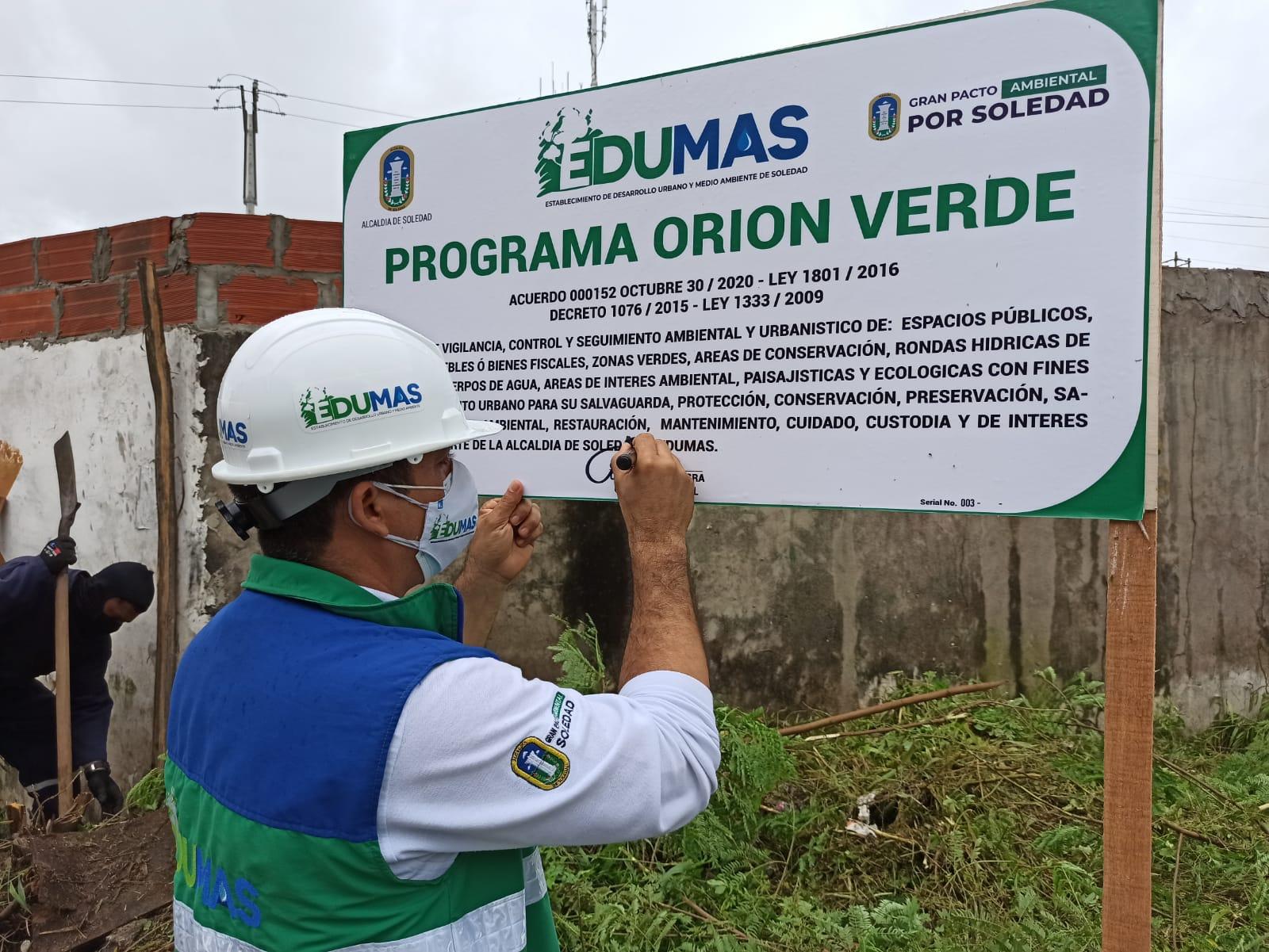 Orión Verde, Programa Del Edumas Que Busca Proteger Los Predios Públicos